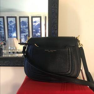 Marc Jacobs black leather brand new crossbody
